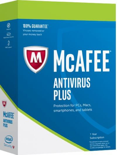 McAfee AntiVirus Plus na 1PC/1rok