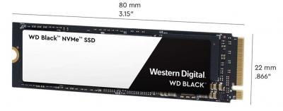 Western Digital SSD M.2 PCIe 250GB Black NVMe