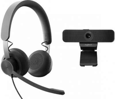 LOGITECH Zone Wired headset a C925e webkamera