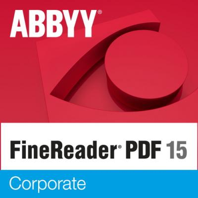ABBYY FineReader PDF 15 Corporate Single User License (ESD) UPGRADE Perpetual