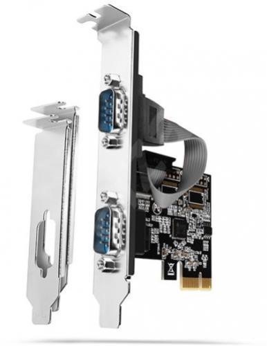 Axago PCIe karta - dvakrát RS232